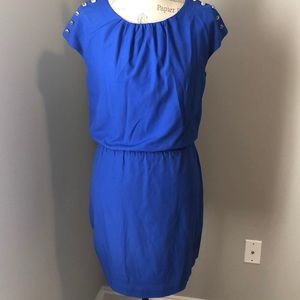 Guess Blue Cap Sleeve Tie Back Dress Size 4